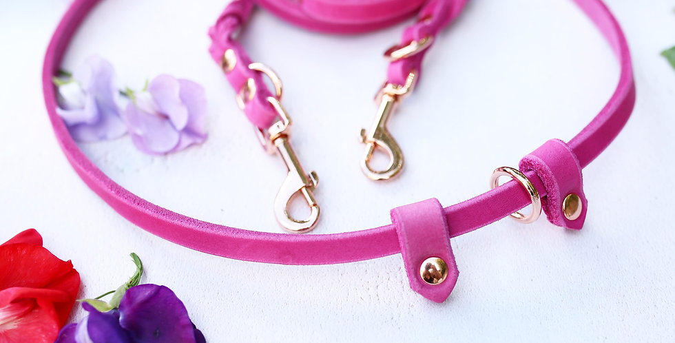 Pink Leather Softies - Training Lead