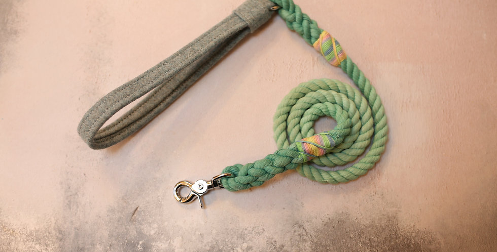 #71 Rope Clip Lead - 10mm - with Wool Handle 130cm