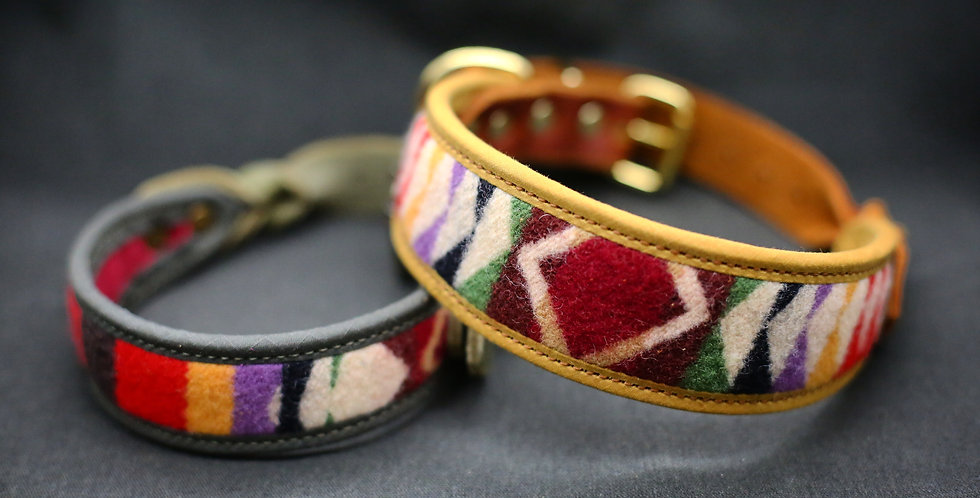 Pendleton and Soft Leather Collar - Ori