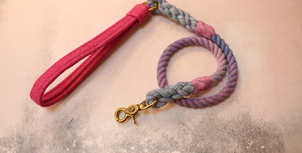 #65 Rope Clip Lead - 10mm - with Wool Handle 95cm