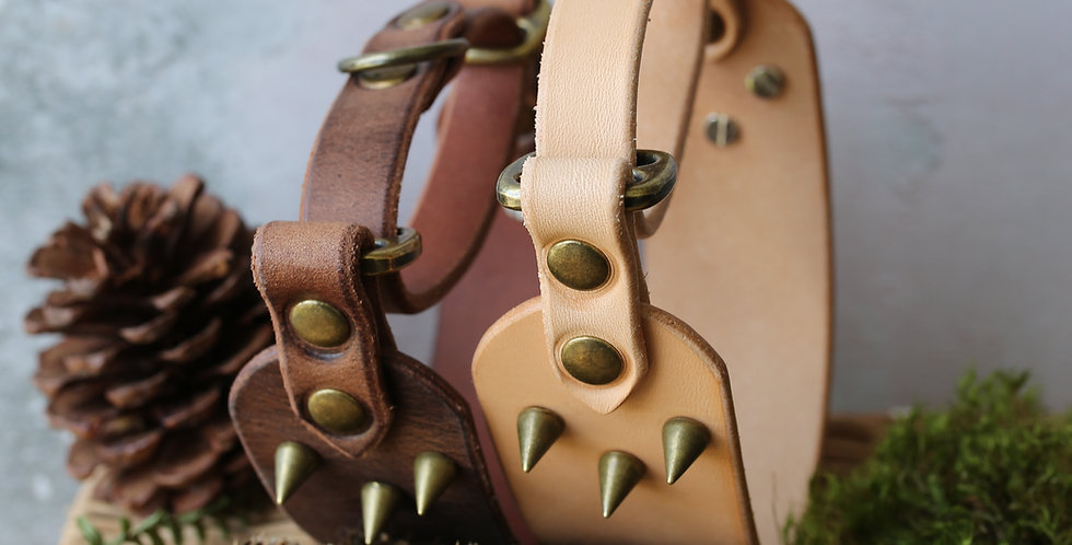 Natural Leather Martingale Collars
