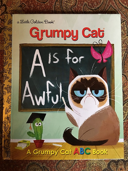 A if for Awful featuring Grumpy Cat