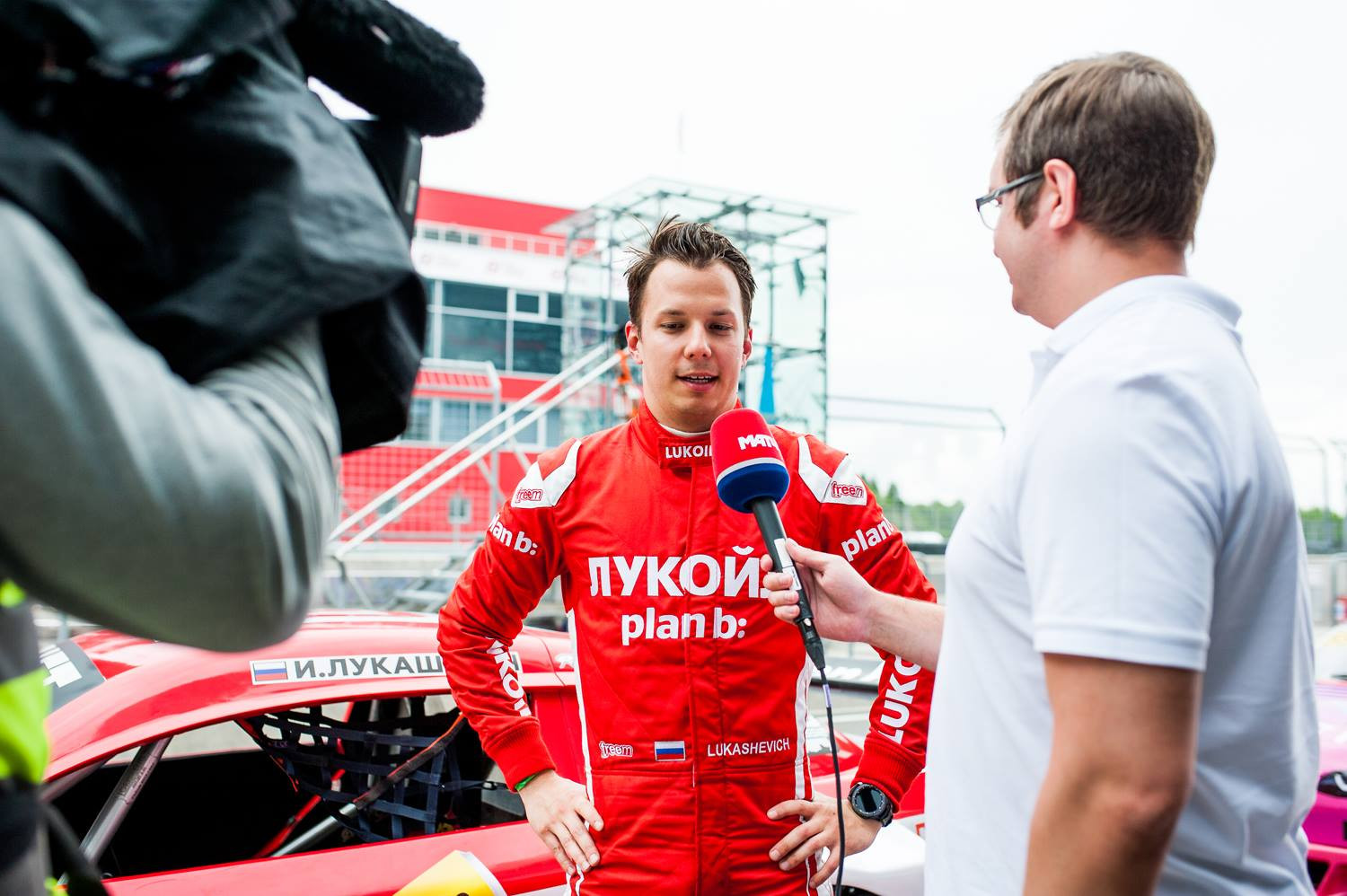 After-race interview