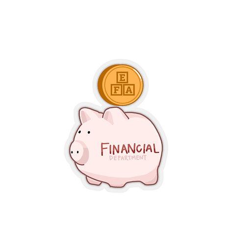 PIGGY FINANCIAL STICKER