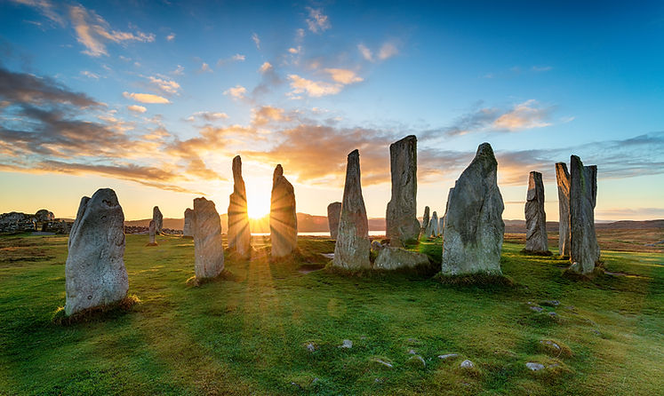 Sunset over the stone circle at Callanis