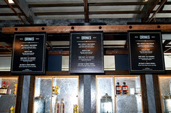 Overhead Bar Menus