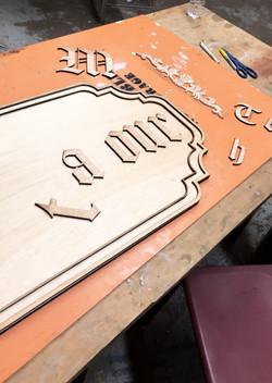 Matour Building Sign