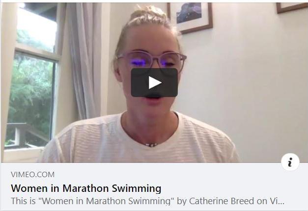 Women in Marathon Swimming Zoom