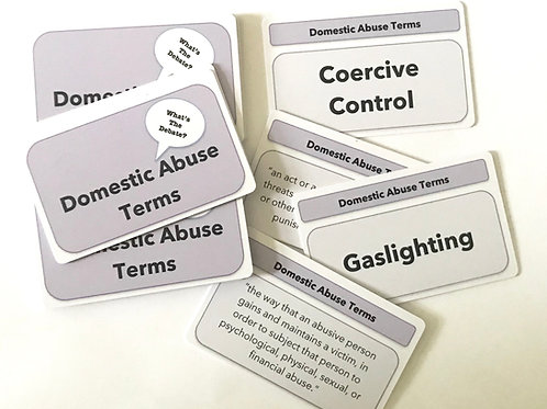 Domestic Abuse Terms and Definition Cards