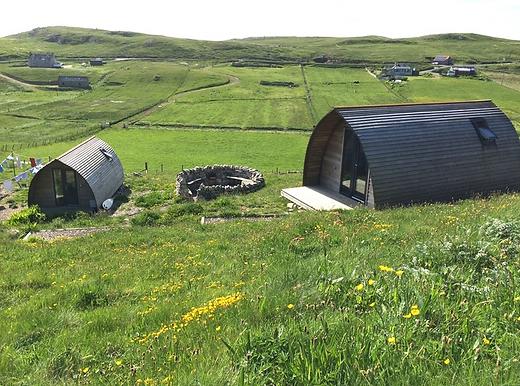 Mangersta Wigwam and Shepherd Huts