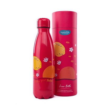 Bottiglia Thermos Twice Rossa in Acciaio