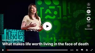 הרצאת TED מעניינת ומרגשת של  Lucy Kalanithi  שמספרת באומץ, בפתיחות ובכנות נדיבה על מחלתו של בעלה, על החיים המשותפים, הבחירות שעשו, האהבה ...