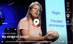 הרצאה מרתקת של ג'יל בולטי – טיילור, חוקרת מוח שחוותה שבץ מוחי ומספרת באופן ציורי ויפה על החוויה המודעת שעברה תוך כדי, ועל השיקום שעברה במ...