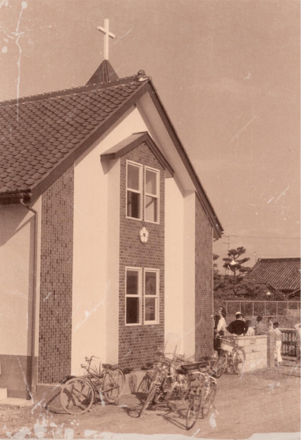 南海ルーテル教会旧会堂(1967年ごろ)