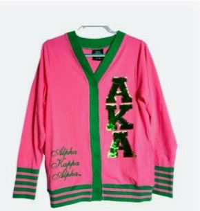 Lightweight Pink and Green Sequin Cardigan