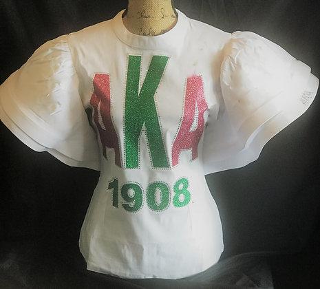 AKA Shirt w/ruffled sleeves