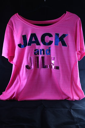 Jack and Jill Foil Design Dri-Fit Ladies Shirt