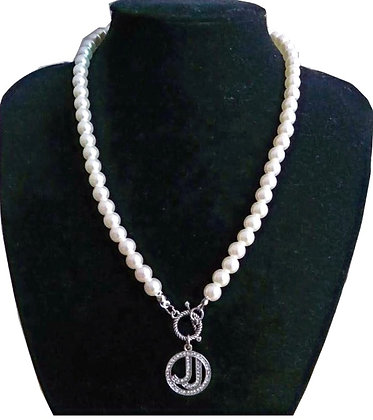 JJ  Pearl Necklace Pendant Jewerly