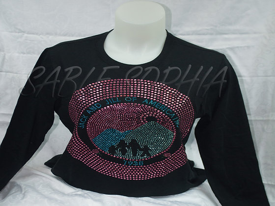 Long Sleeve Large Jack and Jill Bling