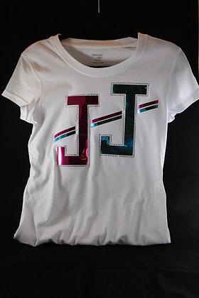 JJ Foil Design Cotton Tee Shirt