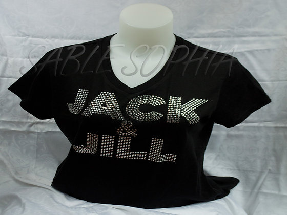 Jack and Jill Bling Ladies Tee Shirt