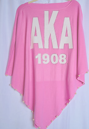 Pink pearl poncho
