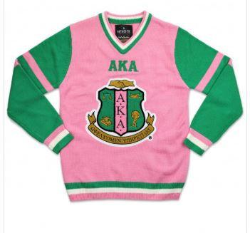 Alpha Kappa Alpha Sorority, Incorporated V -Neck Sweater