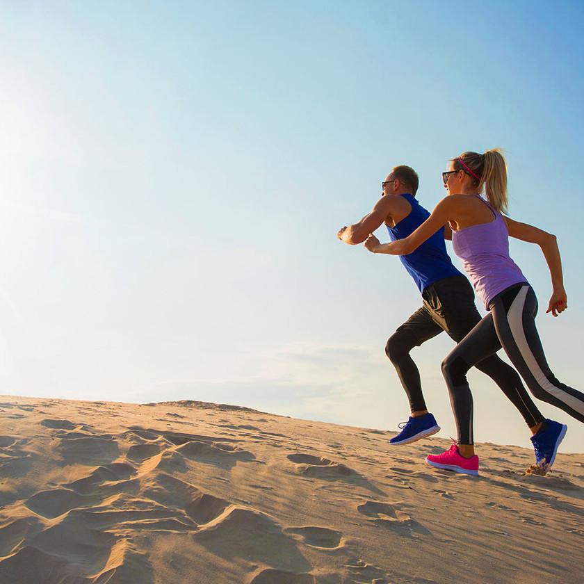 Runners on the beach