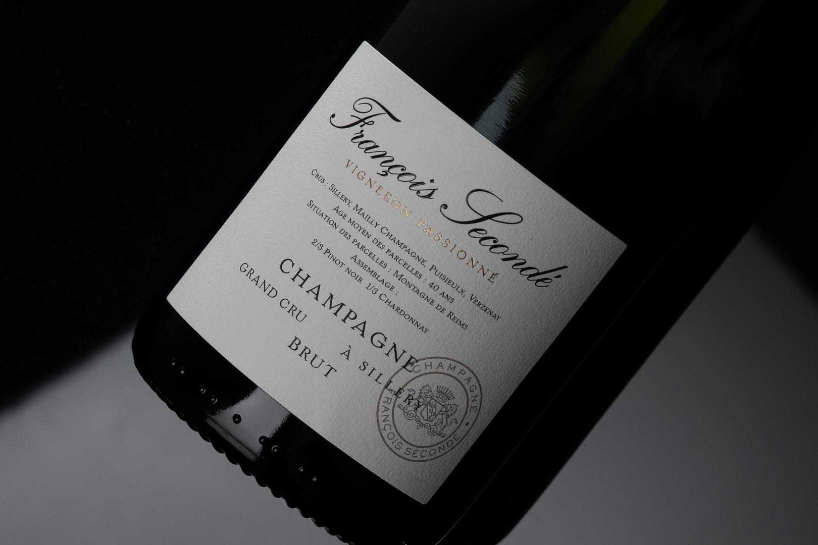 Focus étiquette de Champagne