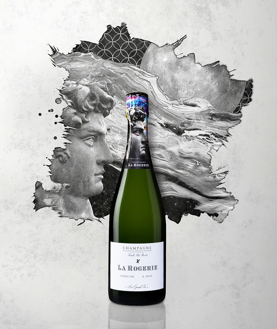 Packshot Champagne rosé Mathieu-Gandon