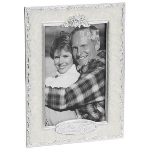 25 Th Silver Wedding Anniversary Celebration Photo Frame Homelong