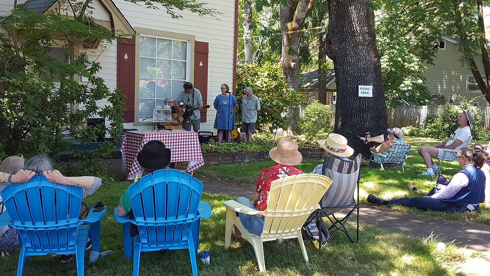 The Widdison Family Revue played in front of their house on Lawnridge Avenue in Grants Pass, OR.