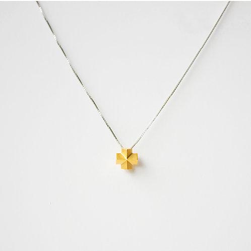 都會幾何3D立體十字項鍊 - 18K金/ 925純銀