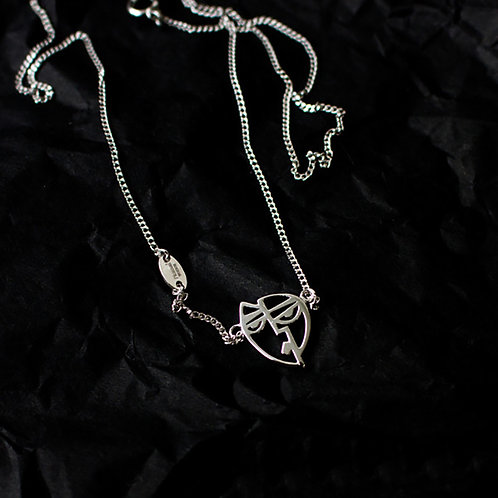 Picasso「Woman with Yellow Hat」Silver Necklace