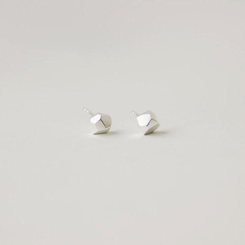 Elegant Geometry 3D Earring - 925 Sliver