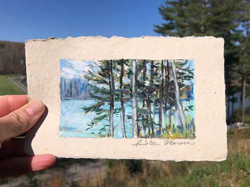 Pines with Lake