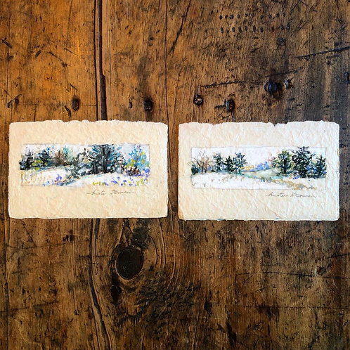 Snow Trails (pair)