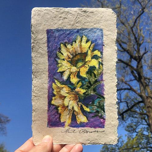 Purple ground Sunflowers