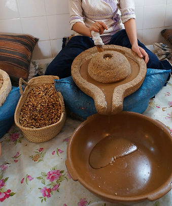 Making argan oil from argan kernel