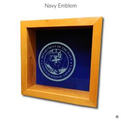 Navy Emblem Glass Engraving Option
