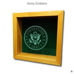 Army Emblem Glass Engraving Option