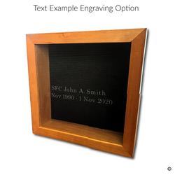 Text Engraving Option Engraving Option
