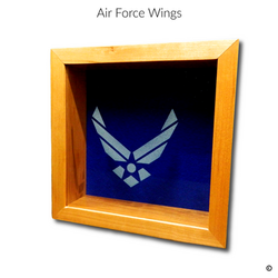 Air Force Wings Glass Engraving Option
