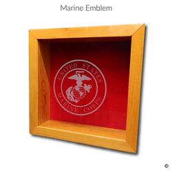 Marine Emblem Glass Engraving Option