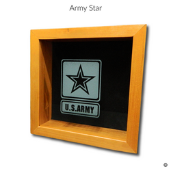 Army Star Glass Engraving Option