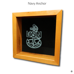 Navy Anchor Glass Engraving Option