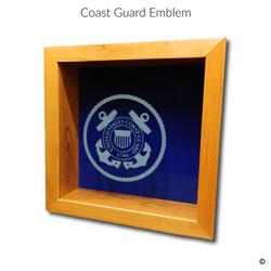 Coast Guard Emblem Glass Engraving Optio