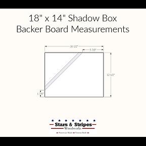 Backer Board Measurements 14 x 18 Shadow