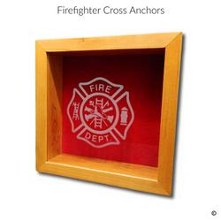 Firefighter Cross Glass Engraving Option