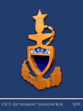 USCG Retirement Shadow Box